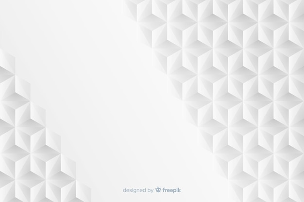 Fond géométrique dans le style de papier Vecteur gratuit