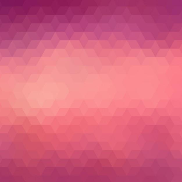 Fond géométrique dans des tons rouge et violet Vecteur gratuit