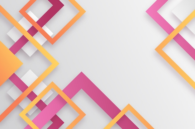 Fond Géométrique Dégradé Vecteur gratuit