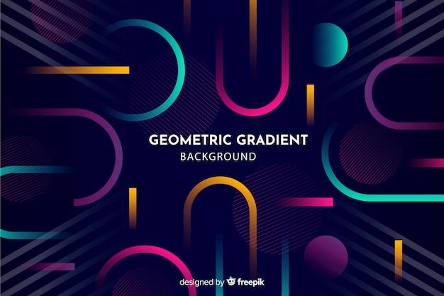 Fond géométrique avec des dégradés Vecteur gratuit