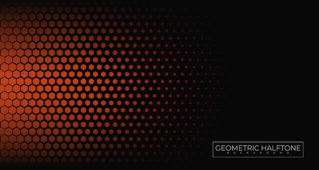Fond Géométrique De Demi-teintes Vecteur Premium