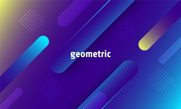 Fond géométrique dynamique Vecteur Premium