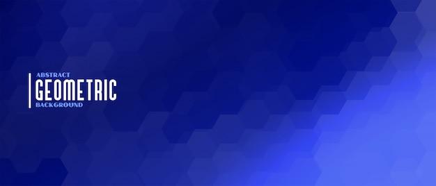 Fond géométrique de forme hexagonale bleue élégante Vecteur gratuit
