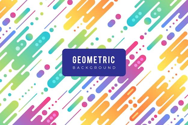 Fond géométrique avec des formes colorées au design plat Vecteur gratuit