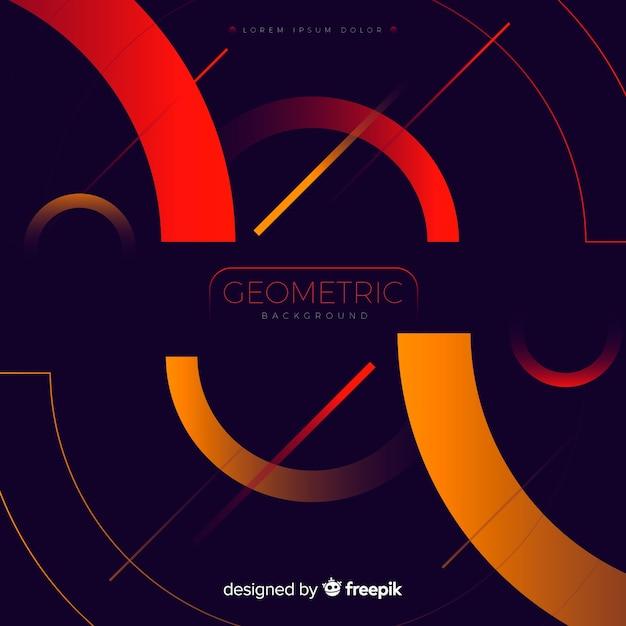 Fond géométrique avec des formes en dégradé Vecteur gratuit