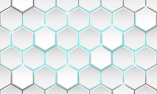 Fond Géométrique Futuriste, Fond Hexagonal Moderne Vecteur Premium
