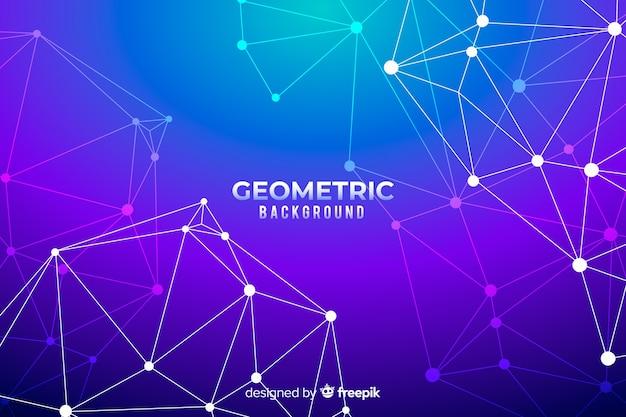 Fond géométrique avec des gradients Vecteur gratuit