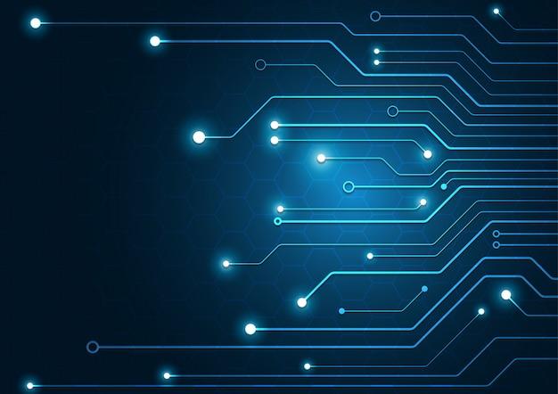 Fond géométrique de haute technologie Vecteur Premium