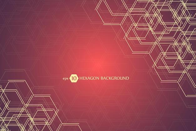 Fond Géométrique Hexagonal. Présentation Commerciale Vecteur Premium