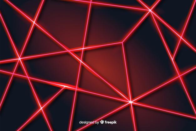 Fond géométrique de lignes laser abstraites modernes Vecteur gratuit