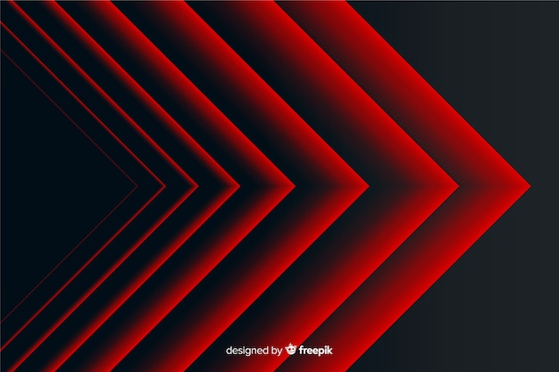 Fond Géométrique Des Lignes Pointues Rouges Abstraites Modernes Vecteur gratuit