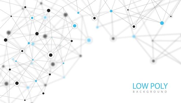 Fond Géométrique Low Poly Vecteur gratuit