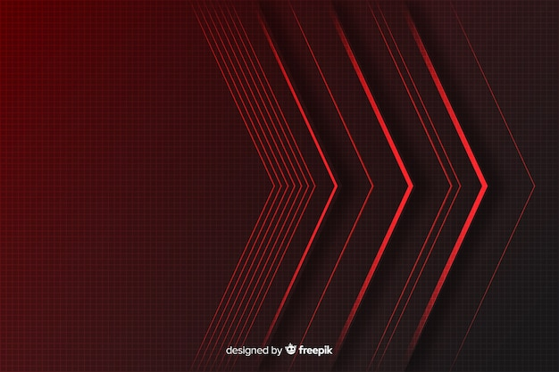 Fond géométrique de lumières rouges Vecteur gratuit