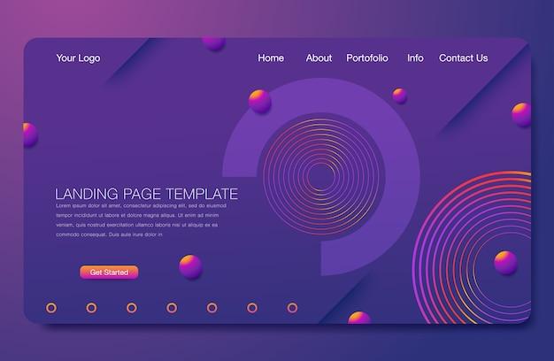 Fond géométrique minimal. composition de formes dynamiques Vecteur Premium