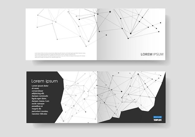 Fond géométrique moderne avec lignes et points connectés Vecteur Premium