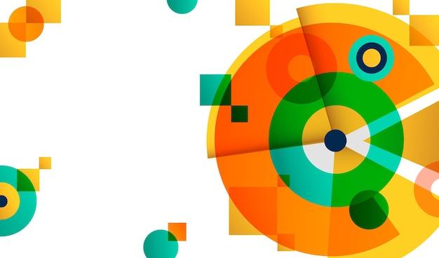 Fond Géométrique Multicolore Dégradé Vecteur gratuit