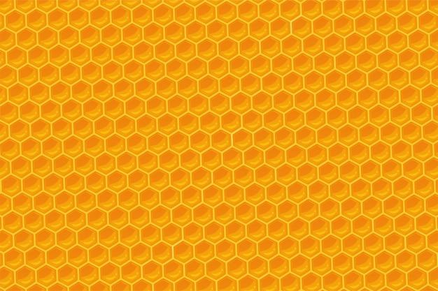 Le Fond Géométrique En Nid D'abeille. Vecteur Premium