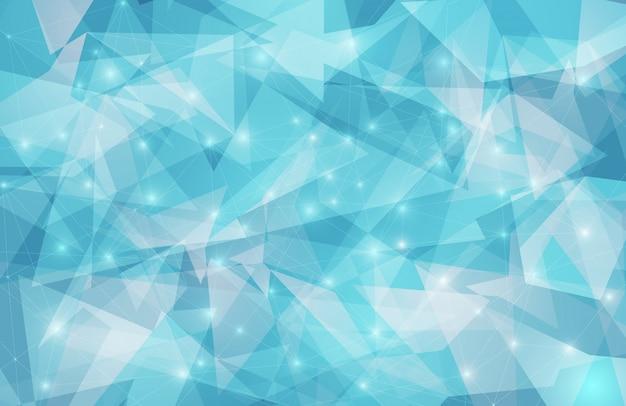Fond géométrique triangle abstrait Vecteur Premium