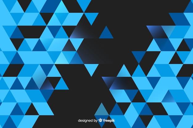 Fond géométrique avec des triangles Vecteur gratuit