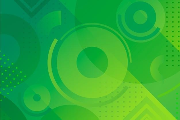 Fond Géométrique Vert Vecteur gratuit