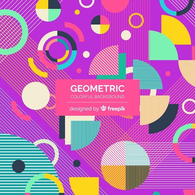 Fond géométrique Vecteur gratuit