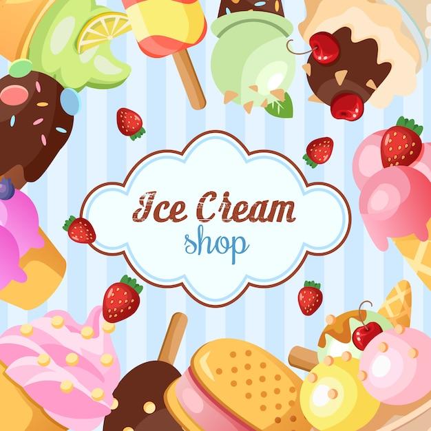 Fond de glace drôle. Vecteur gratuit