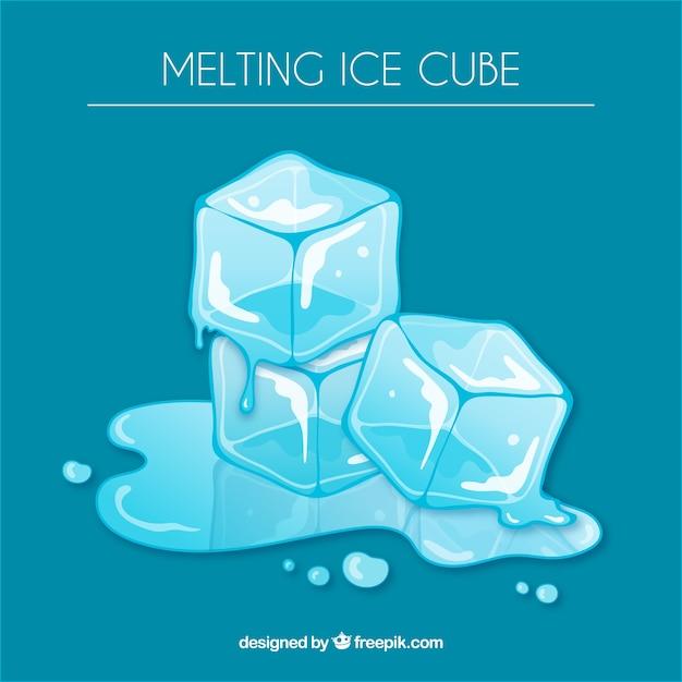 Fond de glace fondre Vecteur gratuit