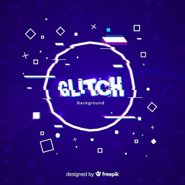 Fond glitch Vecteur gratuit
