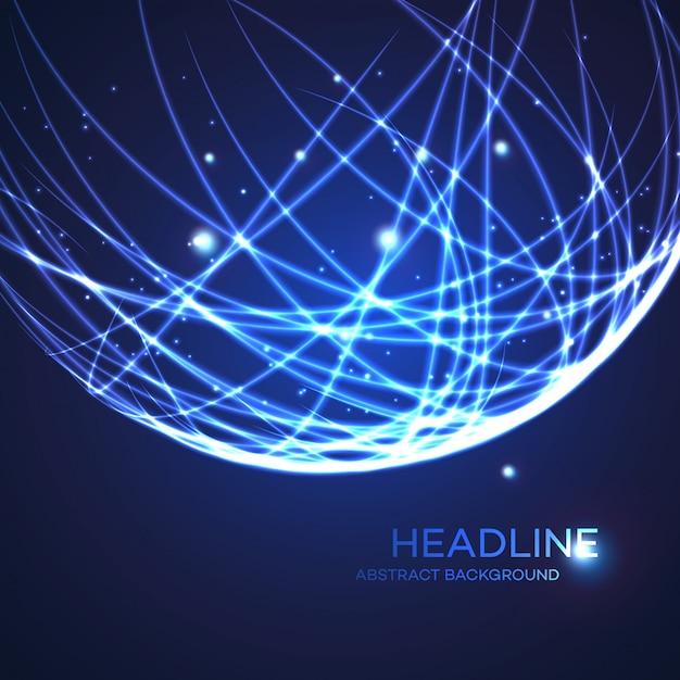 Fond de globe de grille néon Vecteur Premium