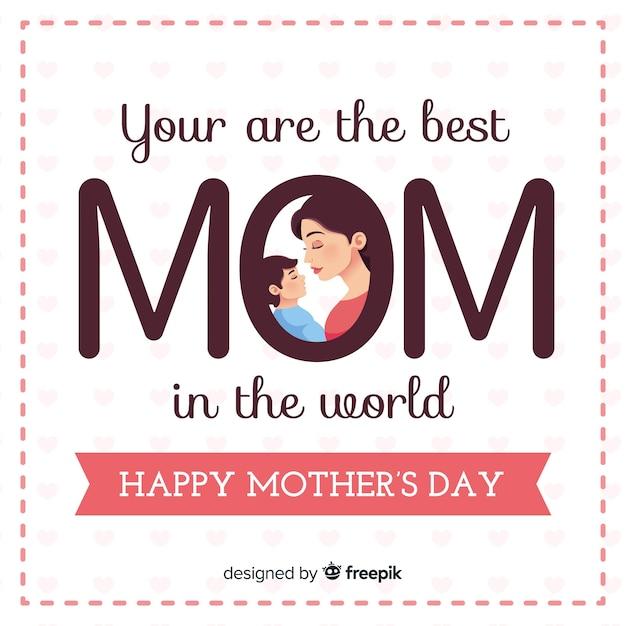 Fond de grandes lettres pour la fête des mères Vecteur gratuit