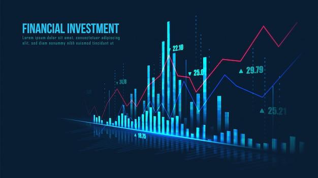 Fond De Graphique Financier Vecteur Premium