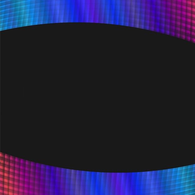 Fond de grille géométrique dynamique - graphique vectoriel à partir de lignes angulaires courbes Vecteur gratuit