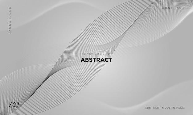 Fond gris abstrait tech minimaliste Vecteur Premium
