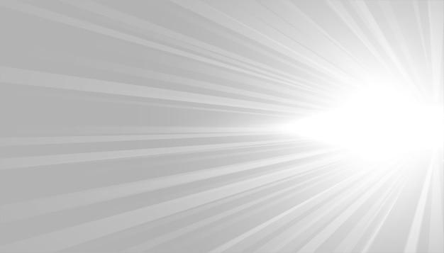 Fond Gris Avec Conception De Rayons Lumineux Blancs Vecteur gratuit