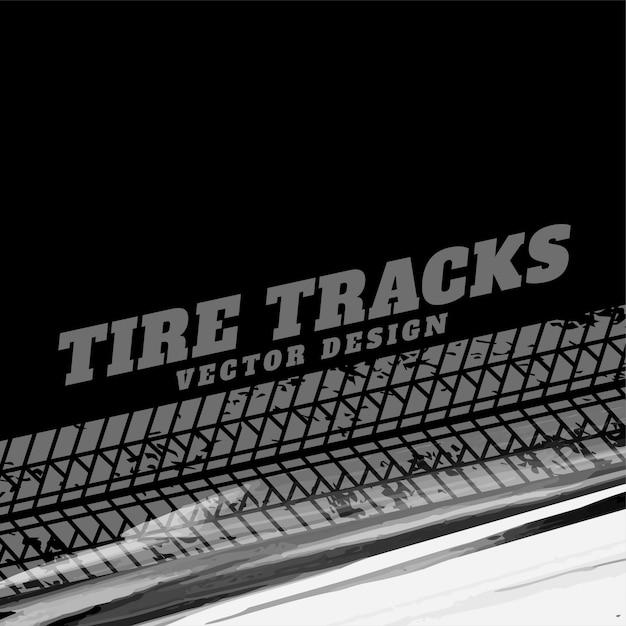 Fond grunge noir avec traces de pneus Vecteur gratuit