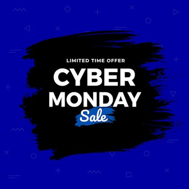 Fond grunge de vente cyber monady Vecteur Premium