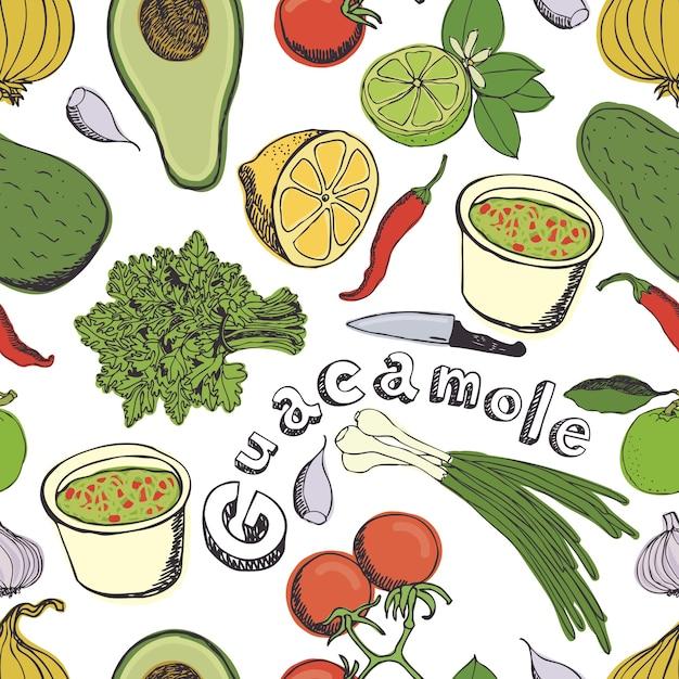 Fond De Guacamole Vecteur gratuit