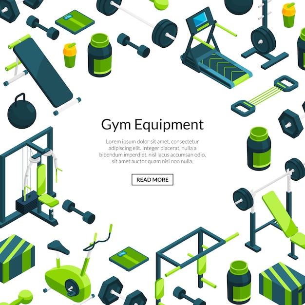 Fond de gymnastique isométrique Vecteur Premium