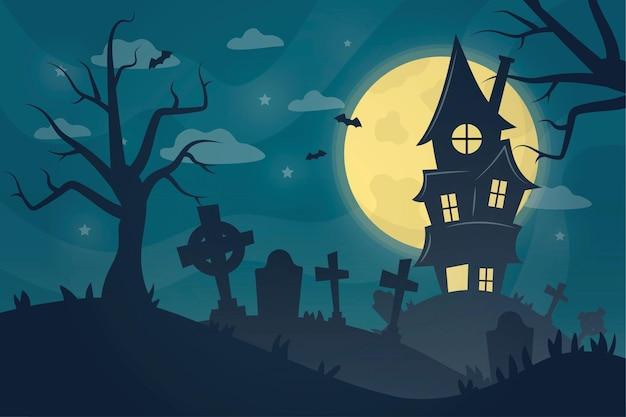 Fond D'halloween Dessiné à La Main Vecteur Premium