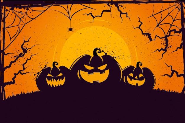 Fond D'halloween Grunge Vecteur gratuit