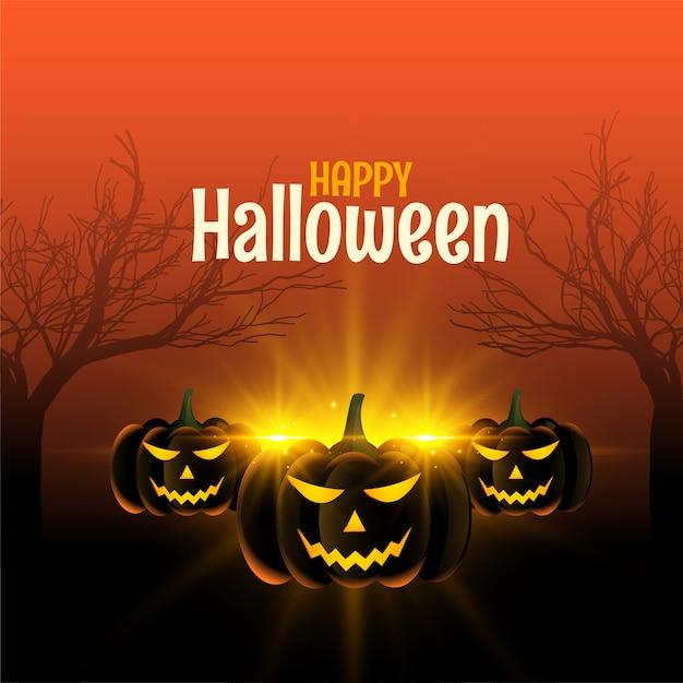 Fond D'halloween Heureux Vecteur gratuit