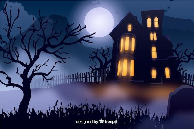 Fond d'halloween réaliste Vecteur gratuit