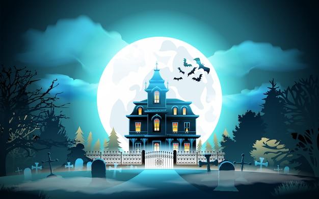 Fond d'halloween Vecteur Premium
