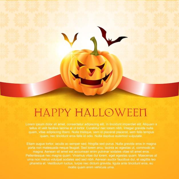 Fond d'halloween Vecteur gratuit