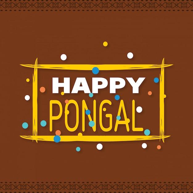 Fond heureux pongal. illustration vectorielle Vecteur gratuit