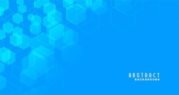 Fond hexagonal de style médical bleu Vecteur gratuit