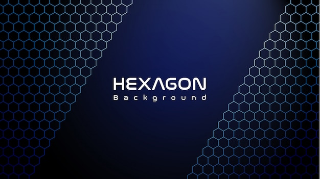 Fond D'hexagone Bleu Cool Vecteur Premium