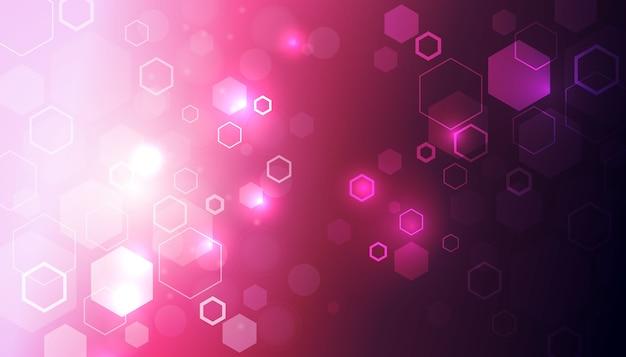 Fond Hexagone Fututristique Vecteur gratuit