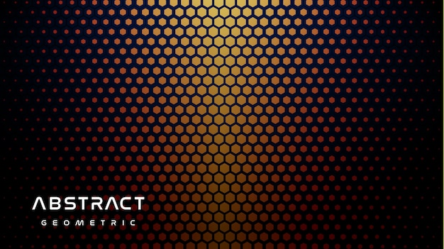 Fond D'hexagone Orange Brillant Vecteur Premium