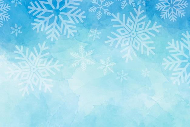 Fond D'hiver Aquarelle Vecteur Premium